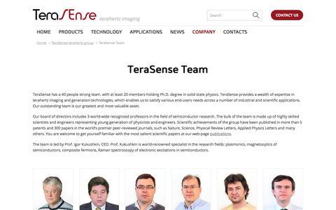 Screenshot of Team Page terasense.com - TeraSense research and development team | TeraSense - captured Oct. 17, 2019