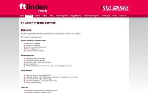 Screenshot of Services Page ftlinden.com - FT Linden Property Services - captured Oct. 5, 2014