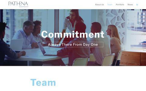 Screenshot of Team Page pathena.com - Team | Pathena - captured Sept. 25, 2018