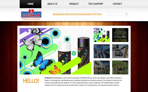 Screenshot of Home Page Privacy Page cn-topcover.com - Spray Paint/Car care/Silicone & PU foam Sealant - captured Oct. 3, 2014