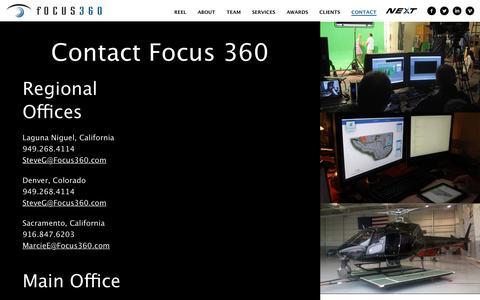 Screenshot of Contact Page focus360.com - Contact | Focus 360 - captured Jan. 8, 2016