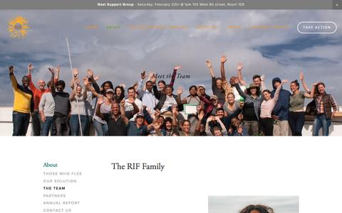 Screenshot of Team Page rifnyc.org - The Team — RIF Asylum Support - captured Feb. 18, 2016