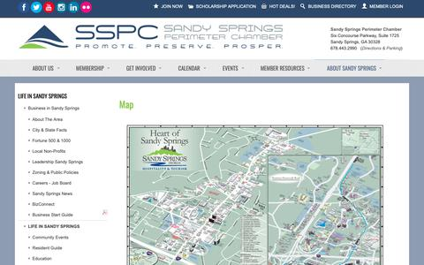 Screenshot of Maps & Directions Page sandyspringsperimeterchamber.com - Map  - Sandy Springs/Perimeter Chamber of Commerce - captured Nov. 12, 2018