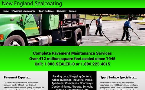 Screenshot of Home Page newenglandsealcoating.com - New England Sealcoating - HOME - captured Oct. 9, 2014