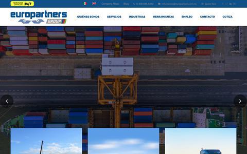 Screenshot of Home Page go2europartners.com - Logística internacional, conectados a todo el mundo. - captured Dec. 15, 2018