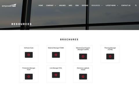 Screenshot of Case Studies Page empowermx.com - Airline Maintenance Resources   EmpowerMX - captured Dec. 8, 2018