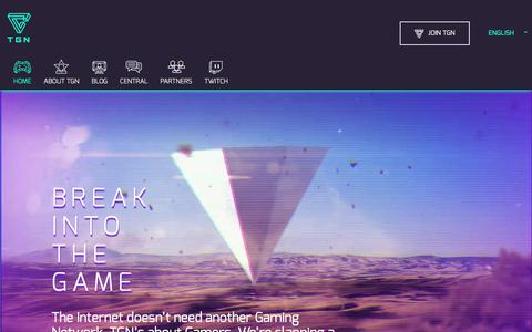 Screenshot of Home Page tgn.tv - TGN - The Network where Gamers get BIG on YouTube - captured Oct. 22, 2015