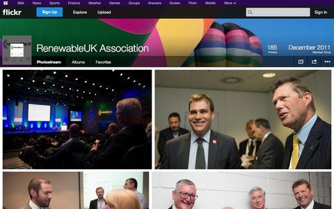 Screenshot of Flickr Page flickr.com - Flickr: RenewableUK Association's Photostream - captured Oct. 23, 2014