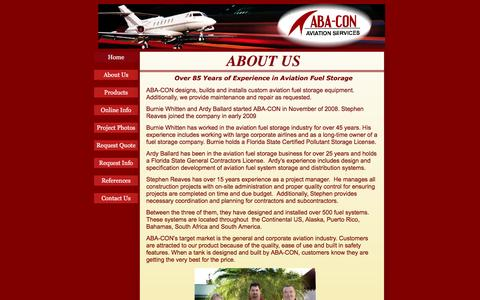 Screenshot of About Page aba-con.com - About Us - captured July 23, 2016