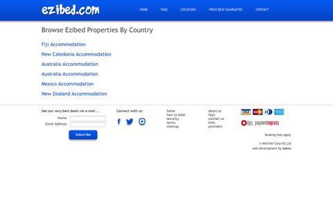 Screenshot of Site Map Page ezibed.com - Sitemap > Ezibed.com - captured Sept. 30, 2014