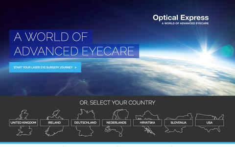 Screenshot of Home Page opticalexpress.com - Laser Eye Surgery with Optical Express, the UK's No.1 - captured Sept. 23, 2014