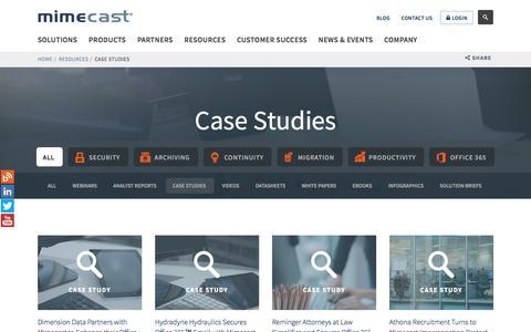 mimecast com's Web Marketing Designs | Crayon
