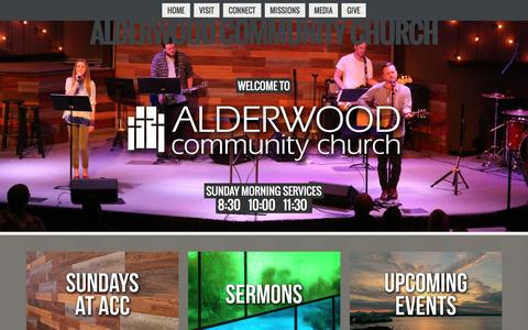 Screenshot of Home Page alderwoodchurchfamily.org - Home - captured Nov. 20, 2016