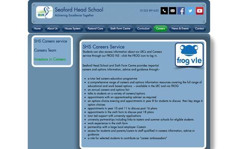 Screenshot of Jobs Page seafordhead.org - seafordheadschool | Careers - captured April 9, 2017