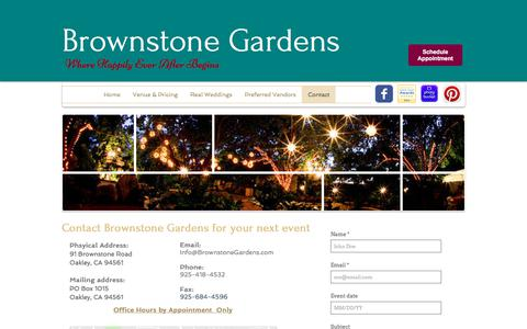 Screenshot of Contact Page brownstonegardens.com - brownstonegardens | Contact - captured June 29, 2018