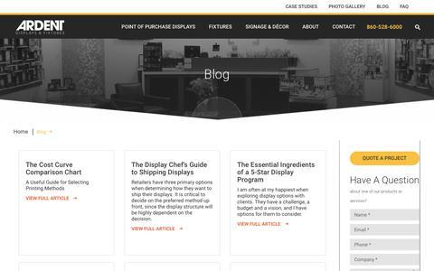 Screenshot of Blog ardentdisplays.com - Blog | Ardent Displays - captured Oct. 4, 2018