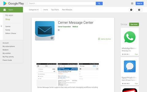Cerner Message Center - Apps on Google Play