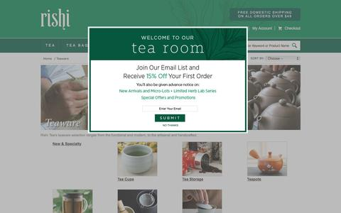 Buy Handcrafted Teaware | RishiTea.com
