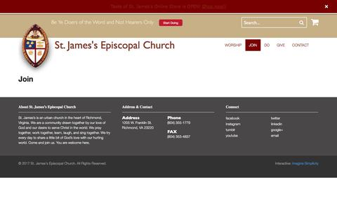 Screenshot of Signup Page doers.org - Join | St. James's Episcopal Church - captured Oct. 24, 2017