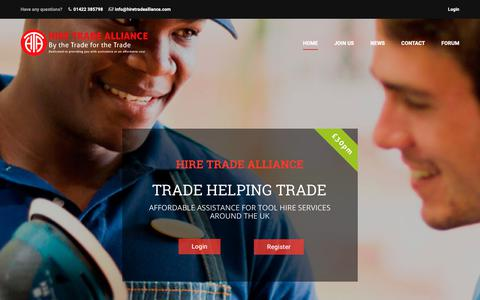 Screenshot of Home Page hiretradealliance.com - UK Tool Hire Services Association | Hire Trade Alliance (HTA) | Trade Helping Trade for Tool Rental Services - captured Sept. 29, 2018