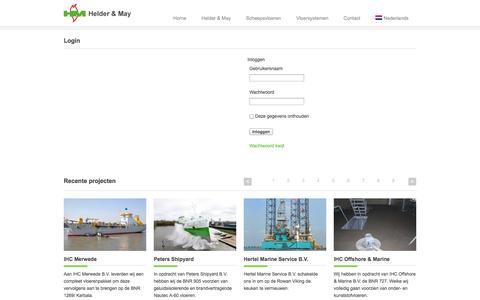 Screenshot of Login Page helder-may.nl - Login - Helder and May - captured Sept. 30, 2014