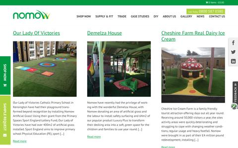 Screenshot of Case Studies Page nomow.co.uk - Read Our Case Studies & See How Artificial Grass Can Help - Nomow - captured Nov. 30, 2016