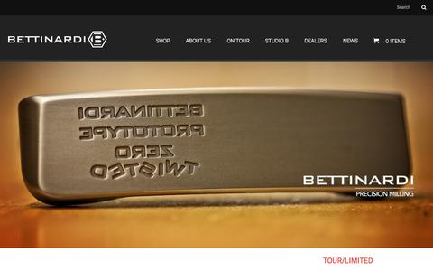 Screenshot of Home Page bettinardi.com - Bettinardi Golf | Precision Milled Putters - captured Sept. 18, 2015