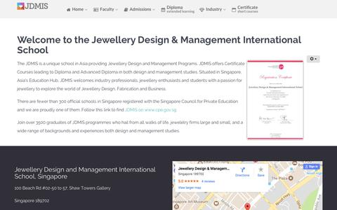 Screenshot of About Page jdmis.edu.sg - Welcome to the Jewellery Design & Management International School - captured Oct. 16, 2017