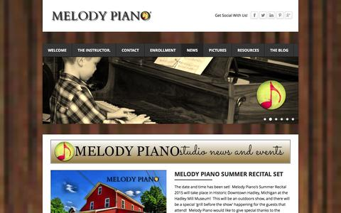 Screenshot of Press Page melodypiano.net - See What's New with Melody Piano - MELODY PIANO - captured Jan. 9, 2016
