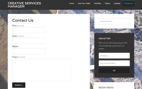 Screenshot of Contact Page kmburck.com - Contact Us - captured Oct. 17, 2017