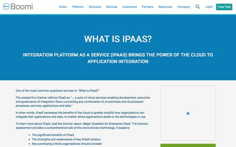 What Is iPaaS? - Dell Boomi