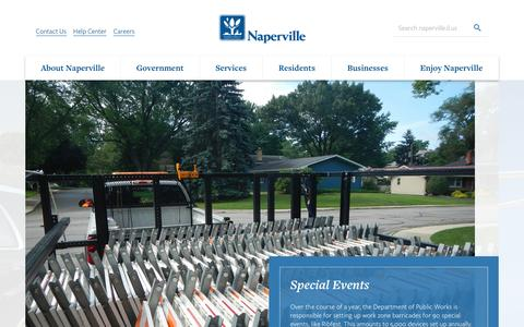 Screenshot of Services Page naperville.il.us - Services   The City of Naperville - captured Aug. 29, 2016