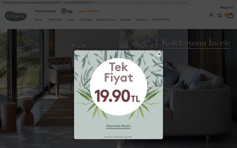 Screenshot of Home Page chakra.com.tr - Chakra Ev Tekstil Ürünleri - captured July 17, 2018