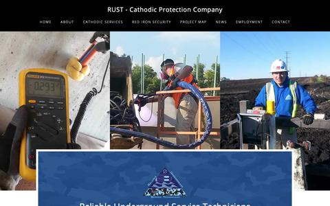 Screenshot of Home Page no-rust.net - Cathodic Protection Company - Corrosion Protection - RUST - captured Nov. 15, 2018