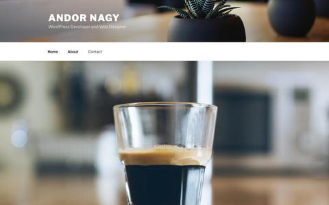 Screenshot of Contact Page andornagy.com - Contact - Andor Nagy - captured Feb. 4, 2017