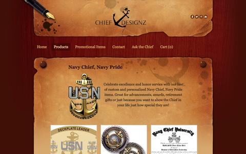 Screenshot of Products Page chiefdesignz.com - Featured Products - Chief Designz - captured Sept. 29, 2014