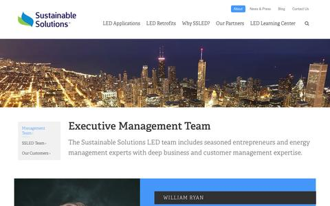 Screenshot of Team Page sustainablesolutionsled.com - LED lighting Management team | Sustainable Solutions LED | Sustainable Solutions LED - captured Feb. 24, 2016