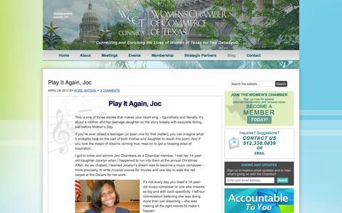 Screenshot of Blog womenschambertexas.com - Blog   Womens Chamber of Commerce of Texas - captured Oct. 6, 2014