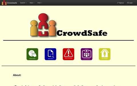 Screenshot of Home Page crowdsafes.com - Welcome to CrowdSafes - captured May 6, 2017