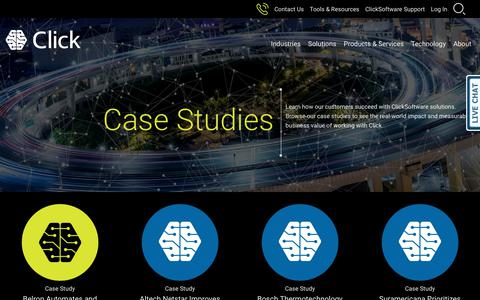Screenshot of Case Studies Page clicksoftware.com - ClickSoftware Customer Case Studies - captured Oct. 2, 2018