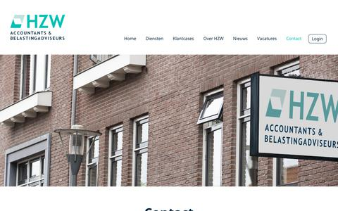 Screenshot of Contact Page hzw.nl - Contact - HZW accountants & belastingadviseurs - captured Dec. 24, 2017