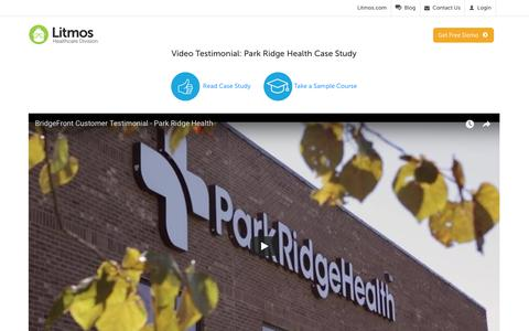Screenshot of Case Studies Page litmos.com - Park Ridge Health Case Study - Litmos - captured Jan. 23, 2018