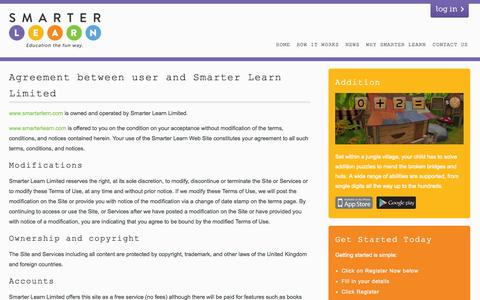 Screenshot of Terms Page smarterlearn.com - Terms & Conditions - Smarter Learn - captured Oct. 4, 2014
