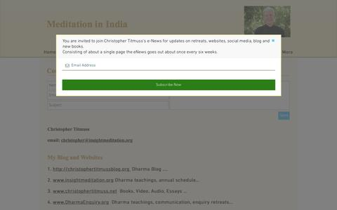 Screenshot of Contact Page meditationinindia.org - Contact - captured March 4, 2017