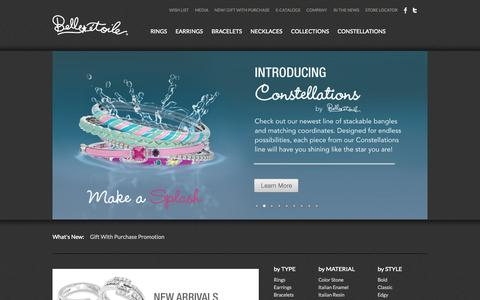 Screenshot of Home Page belleetoilejewelry.com - Belle Etoile : Shine like the star you are - captured Sept. 19, 2014