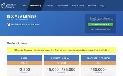 Screenshot of Signup Page aee.net - AEE  | Become a Member - captured Nov. 20, 2016