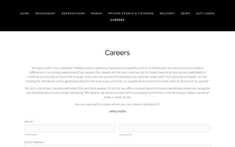 Screenshot of Jobs Page ililinyc.com - ILILI Restaurant Careers — - captured Jan. 14, 2018