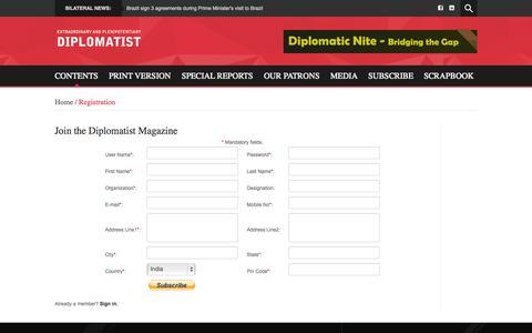 Screenshot of Signup Page diplomatist.com - Diplomatist - captured Oct. 3, 2014