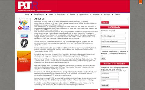 Screenshot of About Page ptreview.co.uk - About Us - Ptreview - captured Oct. 1, 2014