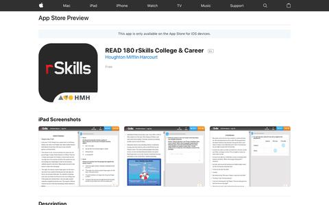 READ 180 rSkills College & Career on the App Store